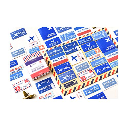 AIUIN 45 Piezas Etiqueta Adhesiva Patrón de avión Pegatina de Sellado DIY Paquete de Regalo