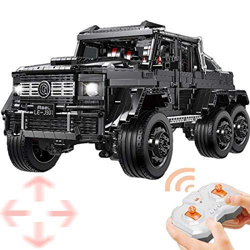 Technik Bausteine für G63 Modell mit Motoren und LED, 3300 Teile Technic Custom Bauspiel Geländewagen Bauset...