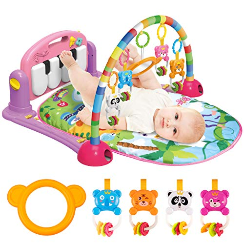 UNIH Baby Gym Play Mats, Kick and Play Piano Gym Activity Center for Infants