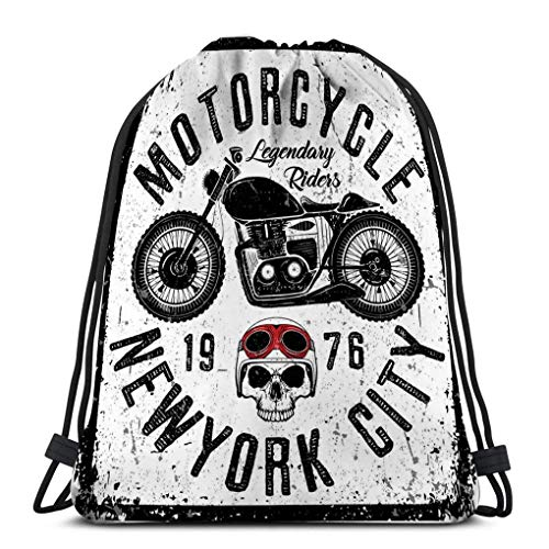 Sacs à cordon de gymnastique Sac à dos à cordon de sport Sac de sport pour femmes Hommes affiche de moto vintage graphique style de mode affiche de moto vintage graphique