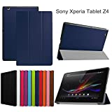 xperia play cover - Asng Sony Xperia Z4 Tablet Case - Ultra Slim Lightweight Standing Cover for Sony Xperia Z4 Tablet 10.1 inch Tablet (Drak Blue)