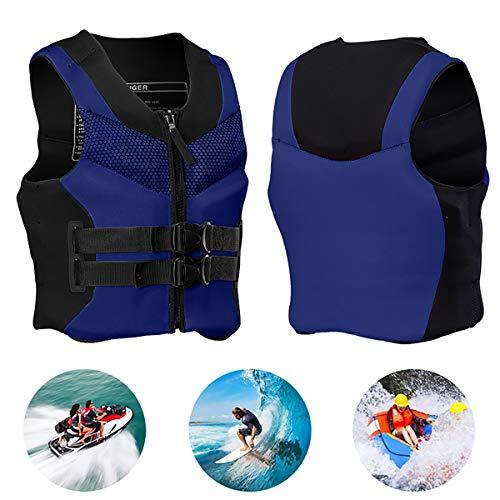 GAYBJ Prueba CE | Chaleco Salvavidas para Adultos Chalecos de natación Piscina portátil de Seguridad Chaquetas para Adultos Mujeres y los Hombres Ayuda a la flotabilidad Ideal,Azul,XXXXL