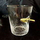 Volltreffer Whiskeyglas mit Patrone im Glas – Whiskyglas Whiskey Tumbler Whisky Tumbler - 4