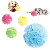 犬猫マジックオートボール、ペットインタラクティブ電動玩具、集塵機クリーニングファミリー/ 4PCS