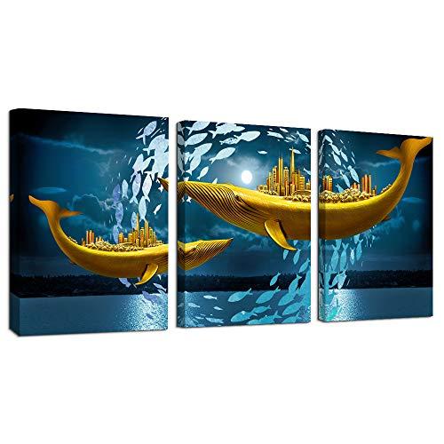 3 Piece framed Canvas Wall Art for living room bathroom Wall...