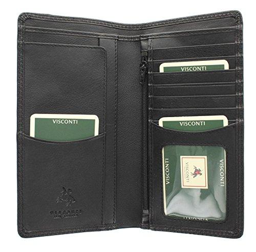 Portafoglio da Giacca da Uomo in Pelle Visconti Collezione Heritage BIG BEN Blocco RFID HT12 Nero