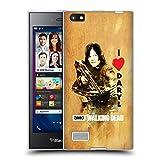 Head Case Designs Licenciado Oficialmente AMC The Walking Dead Ame La Ballesta De Daryl Tipografía Carcasa de Gel de Silicona Compatible con Blackberry Leap