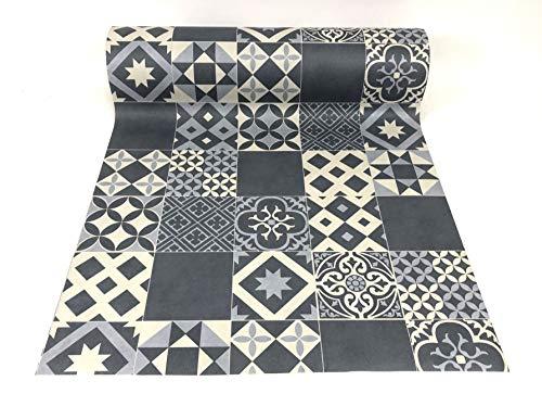 De'Carpet Vinilo PVC A Medida Alfombra FÁCIL Limpieza Antideslizante BALDOSA HIDRÁULICA Pastel (1 Metro Ancho) (1 Metro)