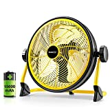 Geek Aire Fan, Battery Operated Floor Fan, Rechargeable Powered High Velocity Portable Fan with...