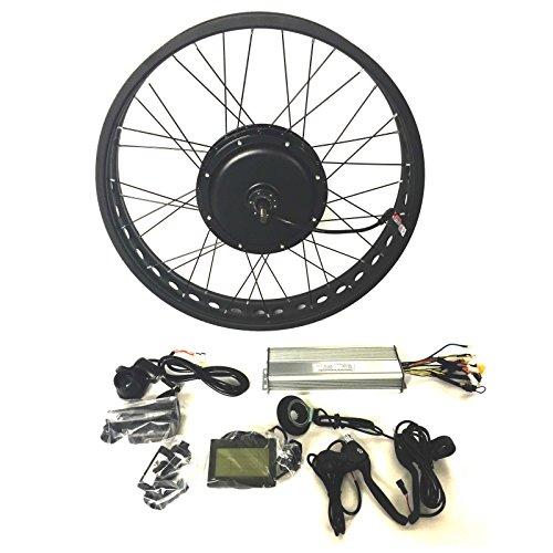 pequeño y compacto Ebikemotor48V1500W Hub Motor EBikeELECTRIC Bike CONVERSION Kit 4.0 Fat Rim + LCD +…
