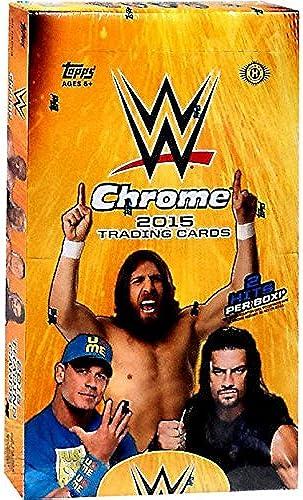 WWE Wrestling 2015 WWE Chrome Trading voitured Box