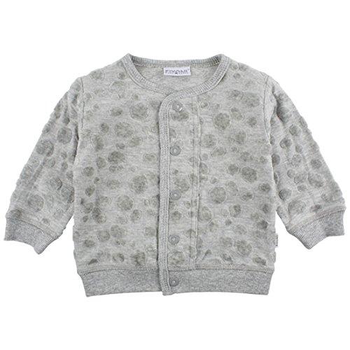 Fixoni Unisex Baby Jacke, 80% Baumwolle 20% Polyester, Grau meliert, Gr. 74, Agger Cardigan Dark Grey Melange 32575