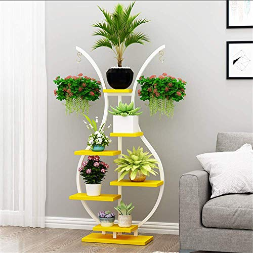 ZMXZMQ Indoor Plant Flower Stand, 6 Tier Stand Display Shelf, Multifunctionele Opslag Plank voor Boeken Foto's Kunstwerk, Pot Plant, Home Decor