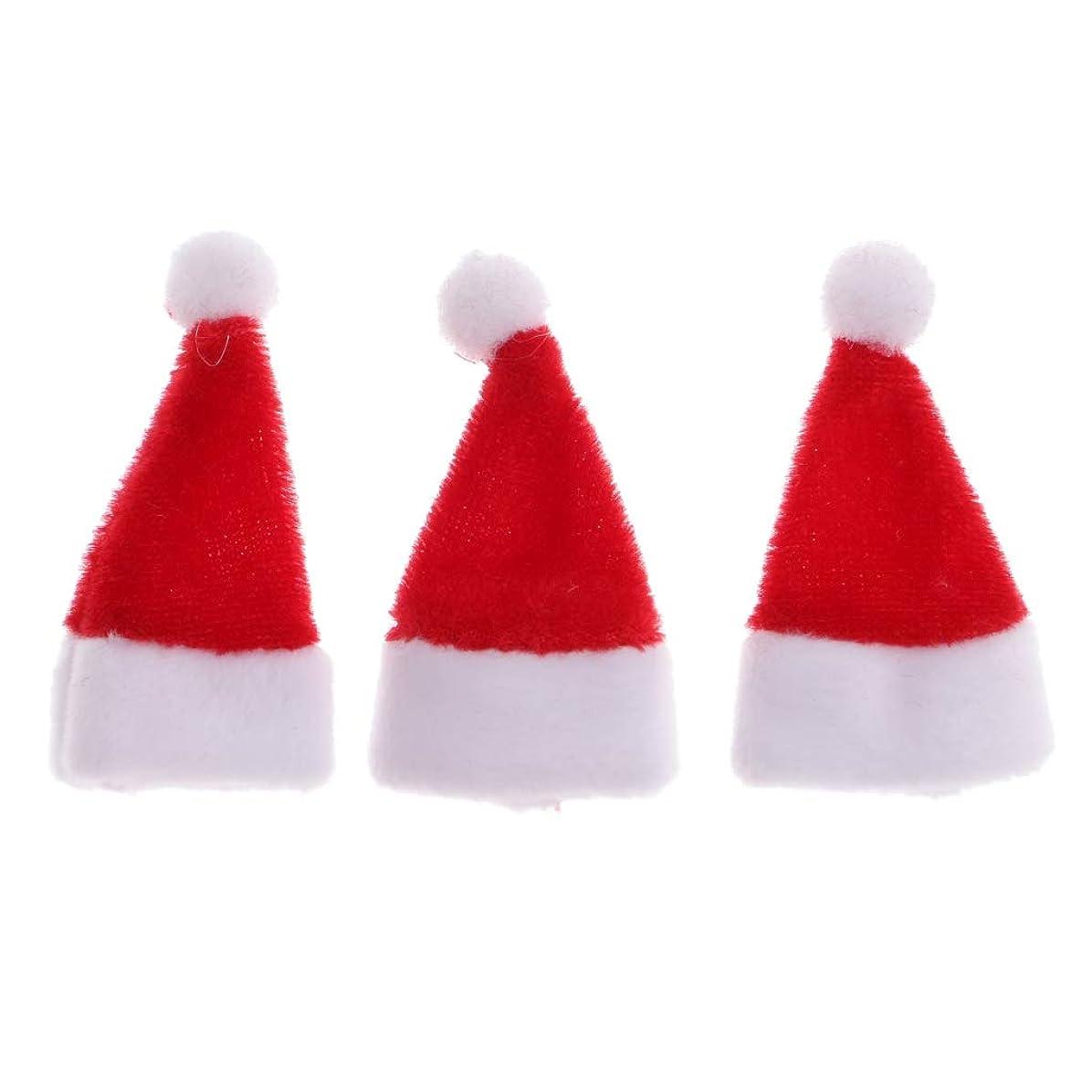 付き添い人アルファベット順データToygogo 3個 ミニチュア クリスマス サンタクロース帽子 サンタ帽子 1/12ドールハウス装飾