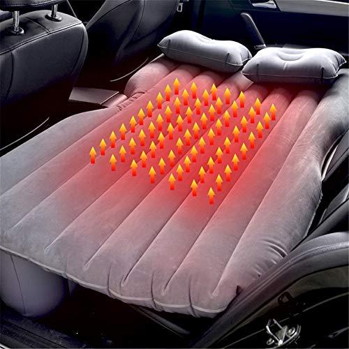 XHJZ-W Auto aufblasbares Bett 12V Heizung Auto-Luftmatratze Bett Auto-Rücksitz-Luft-Bett Schlafen Pad Kinder Erwachsene Camping Reise Mat mit Pumpe