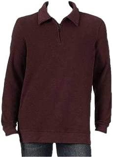 Croft & Barrow Men's Purple 1/4 Zip Mockneck Long Sleeve Heavy Knit Sweater-Size L
