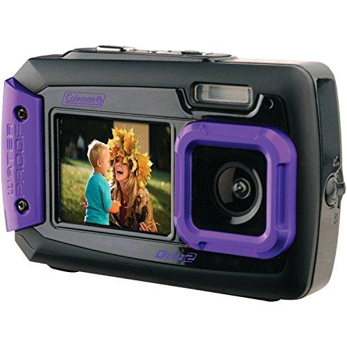 Coleman Duo2 2V9WP-P 20 MP Waterproof Digital Camera with Dual LCD Screen (Purple)