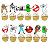 24PC THE GHOSTBUSTERS PARTY CUPCAKE TOPPER CAKE TOPPERS DECORATION THEME BIRTHDAY A2