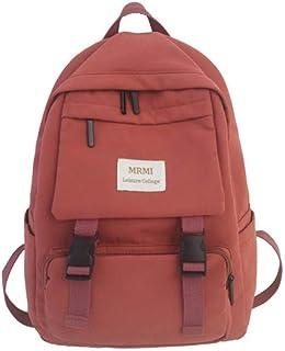 2020 New Backpack Women Multi Pocket Nylon Women Backpack School Bag for Teenage Shoulder Travel Bag Female Backpacks,Orange,29cm13cm40cm