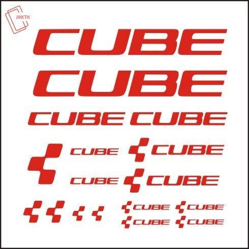 BLOUR Cube Fahrradrahmen Aufkleber Abziehbilder Radfahren DIY Aufkleber Dekoration Rennradfahren Reflektierende Abziehbilder Kits Vinyls Bike Art Decor