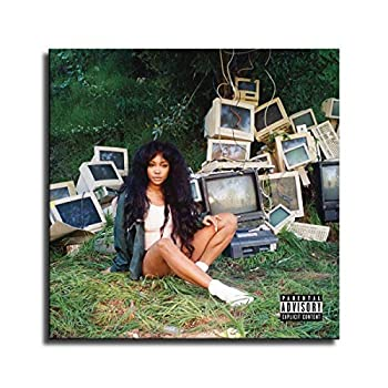 FINDEMO Sza Ctrl Album Cover Printed Painting for Living Room Wall Art Decor HD Picture Artworks Poster -16  24x24inch,unframed