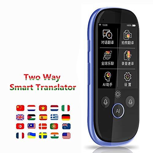 Dispositivo portátil de traducción Inteligente de Idiomas, traductor de Voz en múltiples Idiomas Inteligente en Tiempo Real, portátil, en Tiempo Real, traducción simultánea de intérpretes para Travel