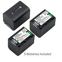 Kastar Battery (3-Pack) for Sony NP-FV70,CB-TRV,TRV-U and Sony DCR-SR15,SR21,SR68,SR88,SX21,SX44,SX45,SX63,SX65,SX83,SX85,FDR-AX100,HDR-CX105,CX130,CX150,CX155,CX160,CX190,CX200,CX260V,CX290,CX300,CX305,CX330,CX350V,CX360V,CX380,CX430V,CX520V,CX550V,CX560V,CX580V,CX700V,CX760V,CX900,HC9,PJ10,PJ30V,PJ50,PJ200,PJ380,PJ430V,PJ540,PJ580V,PJ650V,PJ710V,PJ760V,PJ790V,PJ810,TD10,TD20V,TD30V,XR155,XR160,XR260V,XR350V,XR550V,HXR-NX3D1U,NX30U,NX70U,NEX-VG10,VG30,VG30H,VG900,DEV-5,DEV-50