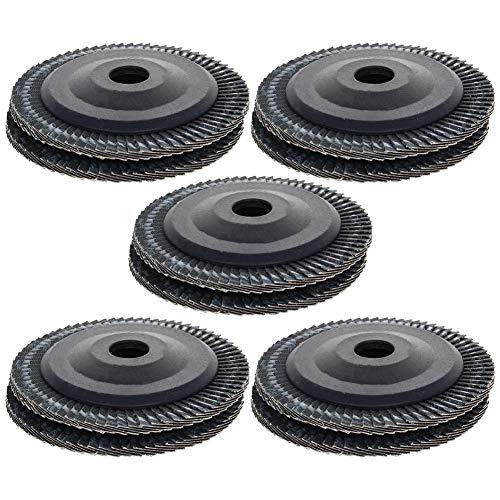 Utoolmart 100 mm disco de aleta de grano 120 óxido de aluminio surtido de lijado, muelas de lijado para metal y madera, 10 unidades