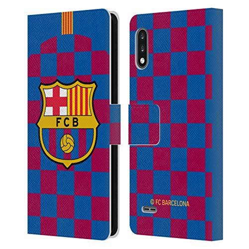 Head Case Designs Licenciado Oficialmente FC Barcelona Primera equipación 2019/20 Crest Kit Carcasa de Cuero Tipo Libro Compatible con LG K22