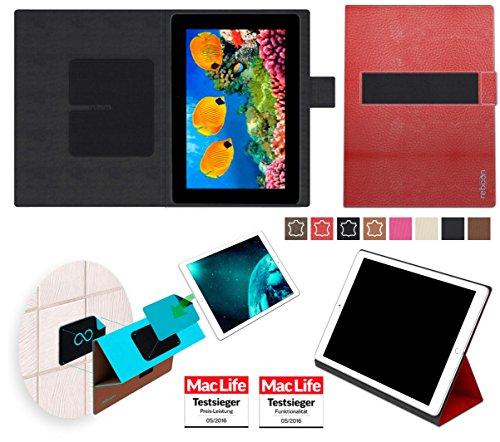 Hülle für Asus MeMO Pad FHD10 Tasche Cover Hülle Bumper | in Rot Leder | Testsieger