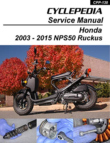 2003-2011 Honda NPS50 Ruckus Scooters Service Manual