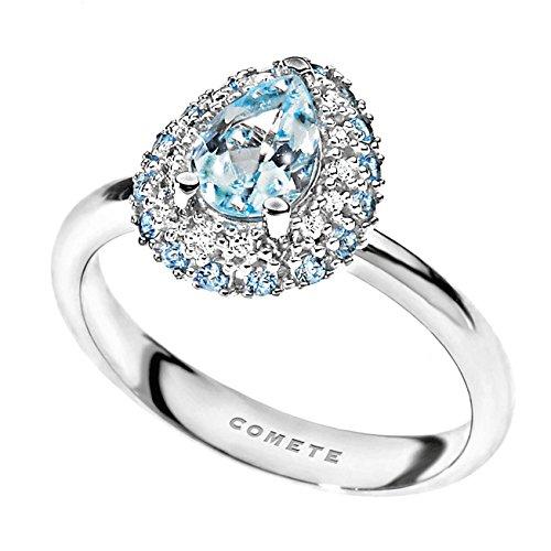 Anillo mujer joyas Comete piedras preciosas colores clásico cód. ANQ 276