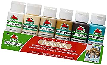 Farmhouse Paint Set, 12, Product Dimensions: 2.8 x 8.2 x 3.7 inches