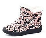 Hezeisoar Niños Botas de Nieve Invierno Calientes Zapatos Niña Niño Forradas Zapatillas Impermeable Planas Botines Antideslizante Ligero Calzado Cremallera Botas Aire Libre 31 EU = 32 Etiqueta