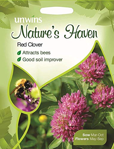 Unwins Pictorial Packet - Natures Haven Red Clover - 200 graines