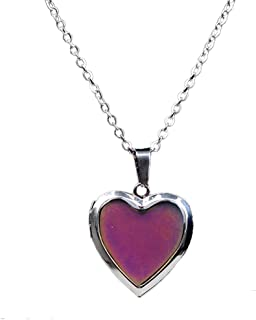 LH1028 Temperature Mood Mood Color Necklace Love Heart Box Emotion Necklace