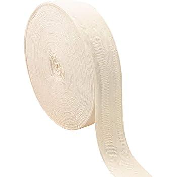 Cinta de sarga de algodón de espiga, cinta de cinta de cinta natural para hacer manualidades y costura (1 pulgada de ancho, 55 yardas): Amazon.es: Hogar