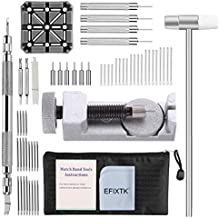 Watch Band Strap Link Pins Remover Repair Tool,24 in 1 Kit with 6 extra tips Replacement,20PCS Cotter Pin,Spring Bar Tool Set,1PCS Head Hammer