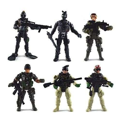 BeesClover Creatief Leven 6 Stks/Set Militaire Soldaat Modelleren Speelgoed met Verplaatsbare Voegen Gereedschap