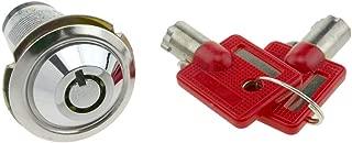 LED Rojo + Verde Gebildet 2pcs 19mm Moment/áneo Pulsador de Bot/ón Interruptores Acero Inoxidable Impermeable ON//Off 12V-24V 5A LED 1NO1NC SPDT Temporal Interruptor Pulsador con Enchufe de Cable