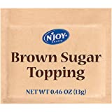 N'Joy Brown Sugar Topping for Oatmeal | 125 Count | Single Serve Portion | Bulk Size