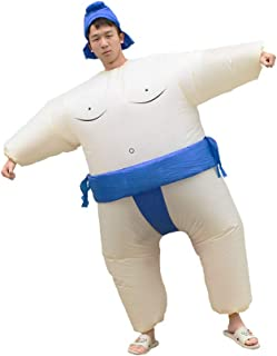 Special Costume for Performance of Funny Sumo Inflatable Suit Wrestler Wrestling Suits Blow Up Suit for Adult Blue