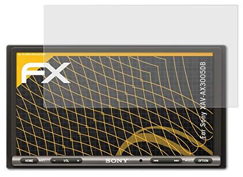 atFoliX Panzerfolie kompatibel mit Sony XAV-AX3005DB Schutzfolie, entspiegelnde & stoßdämpfende FX Folie (3X)