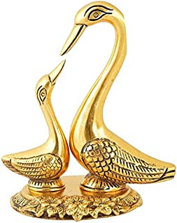 CHHARIYA CRAFTS Pair of Kissing Duck Metal Decorative Showpiece