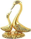 CHHARIYA CRAFTS Pair of Kissing Duck Metal Decorative Showpiece