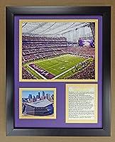 "Legends Never Die NFL Minnesota Vikings US Bank Stadium Double Matted Photo Frame, 12"" x 15"""