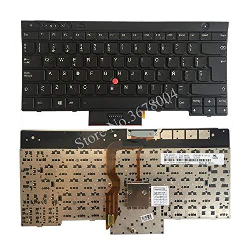 Laptop-Tastatur für Lenovo Thinkpad T530 T530I T430 T430S X230 W530 L430 L530 Spanische Tastatur Schwarz 04X1325