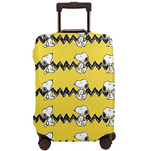Snoopy Maleta Funda Protectora Banda Elástica Caja Protectora Anti-Rasguño Las Mangas Elásticas Gruesas son Fácil de limpiar, Impreso Elegante y Lindo