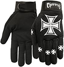 Hot Leathers Choppers Mechanic Gloves (Black, X-Large)
