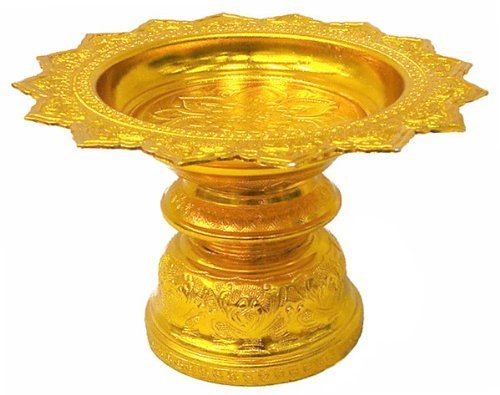 12' Tray Thai Buddhism Style Worship Offering Pedestal to Buddha Altar Amulet Made From Thailand